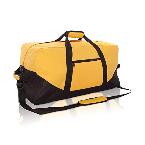 "DALIX 25"" Big Adventure Large Gym Sports Duffle Bag in Gold from DALIX"