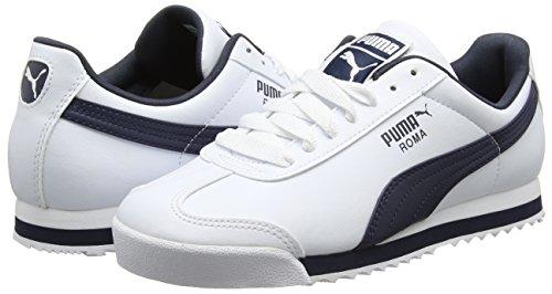 Bleu Unisexe Blanches Roma Basic nouveau Chaussures 12 blanc Puma Marine q1704c