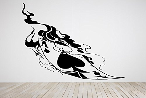 Wall Room Decor Art Vinyl Decal Sticker Mural Smoking Ace Spade Cards Big AS272