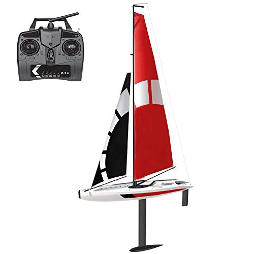 NiGHT LiONS TECH 2.4Ghz Hobby Grade Professional RC Remote Radio Control Sailboat, Huge Large RC Wind Power Rc Boat for Outdoor Sports