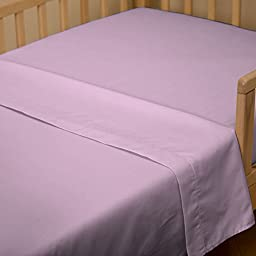 Carousel Designs Solid Orchid Toddler Bed Sheet Top Flat