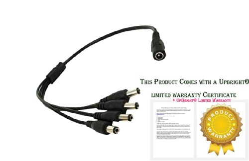 Price comparison product image UpBright® 4-Way Power Cord Adapter 4 Splitter Cable For Dogtra Dog Training Collar Remote Battery Charger 3-3&5-3 Female Male Connectors 744622371017, 744622371024, 744622371031, 175NCP 103471, 200NCP 111361, 202NCP 101961, 1800NC 100121, 1802NC 100101, 1803NC 100101/3-3 splitter, 1804NC 100126, YS500 (less than 30320) (Note: We provide SMART connector plug for this item. This replacement Splitter fits black and yellow both types. Thanks.)