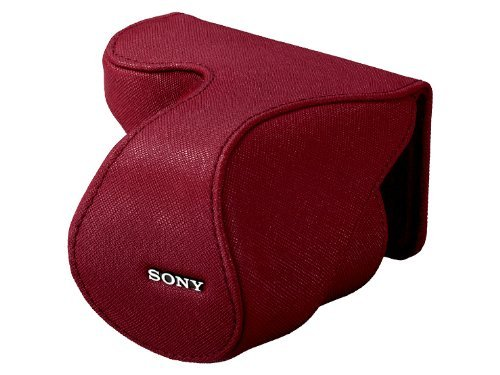 Sony Lens Case Jacket for NEX-5 NEX-3/C3 with E18-55mm F3.5-5.6 OSS (SEL1855)   LCS-EML2A R RED