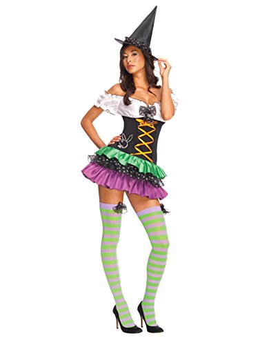 Secret Wishes Women's Playboy Sexy Witch Costume, Black, Large -