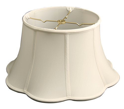 Royal Designs 6-Way Out Scallop Bell Basic Lamp Shade, White, 13 x 19 x 11.25