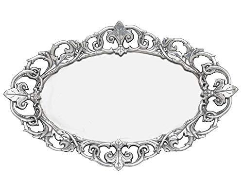 (Arthur Court Designs Aluminum Fleur-De-Lis Oval 20