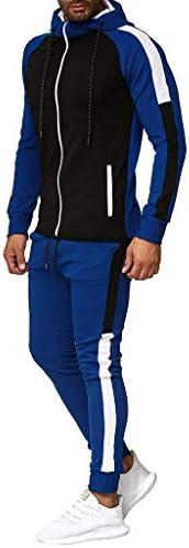 Jincheng665 上下スエット ジップ パーカー バイカラー 大きいサイズ トレーニングウェア ジャケット メンズ トレーナー ズボン スキニー パンツ フード付き コート スポーツ