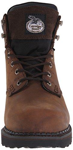 Georgia Boot Mens Brookville 6 Inch Steel Toe Work Shoe Dark Brown 0a2Oa