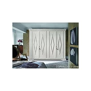 Schrank Türen lackiert geschnitzt Holz massiv – Wie Foto weiß und ...