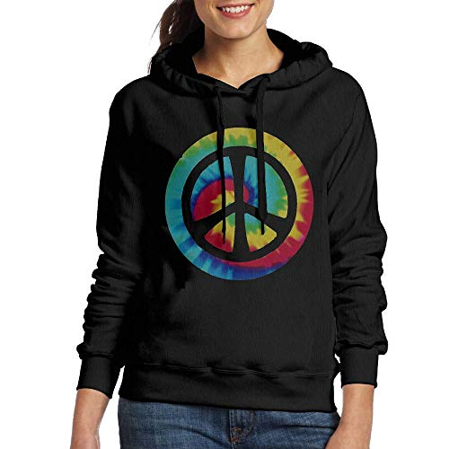 (DFGHJZH-L Tie Dye Peace Sign Womens Fashion Adult Long-Sleeved Sweater)