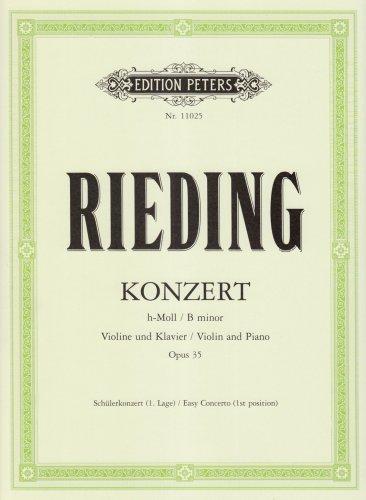 CF Peters Rieding-Concerto in B minor Op. 35