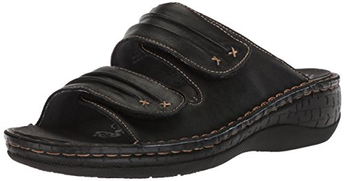 (Propet Women's June Slide Sandal, Black, 7.5 Medium US)