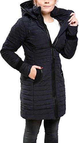 800 Navy Con Khujo Mujer De Para Capucha Spotted Abrigo 6wY1Bx00