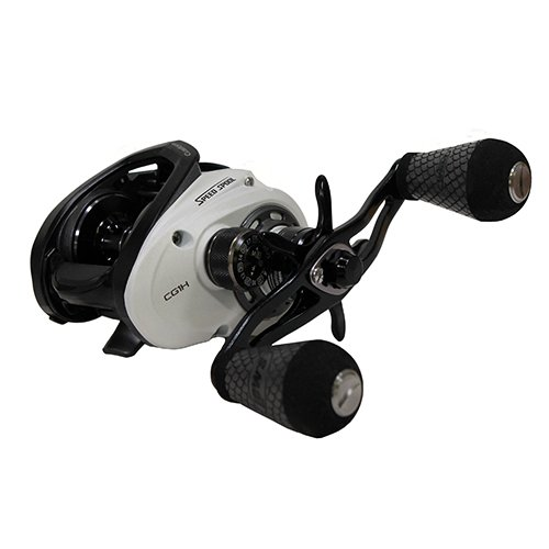 Lews Fishing CG1H Fishing, Custom Speed Spool Msb Casting Reel, 6.8: 1 Gear Ratio, 10 Bearings, 14 lb Max Drag, Right Hand