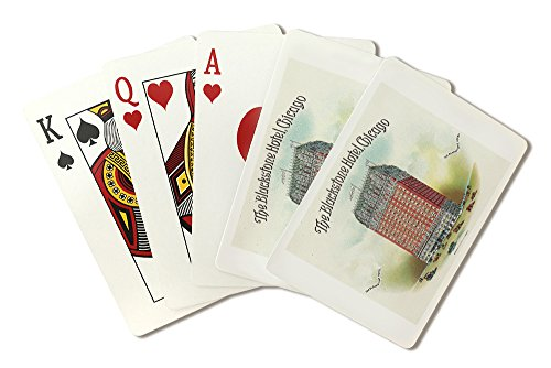 The Blackstone Hotel (Chicago) Brand Cigar Box Label (Playing Card Deck - 52 Card Poker Size with Jokers)
