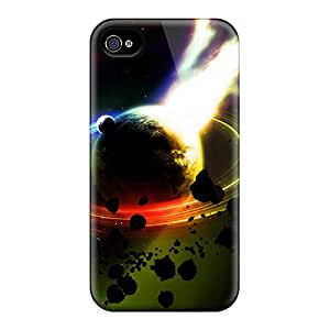 Tpu Shockproof/dirt-proof 3d Space Cover Case For Iphone(4/4s)