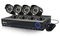 Swann SWDVK-432004-US Swann 3200 4 CH DVR and 4 x 650 TVL Cameras (Black)