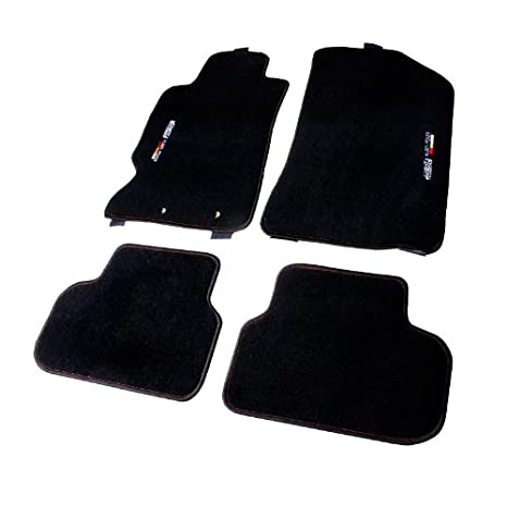 Amazoncom Acura RSX Mugen Logo Black Floor Mats With Red - Acura rsx floor mats
