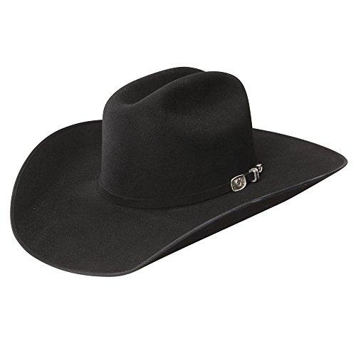 Resistol RWHRSEB6842 Horseshoe Bound Reg Hat, Black - 7 3/4 by Resistol