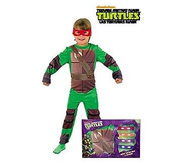 Disfraz de Tortuga Ninja en caja para niño, infantil 5-7 años (Rubies 888261-M)