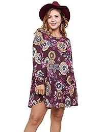 1bab0d537a0 Women s Bohemian Mandala Print Dress Plus Size
