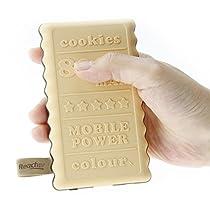 Reacher クッキー型 超軽量 大容量モバイルバッテリー 超コンパ...