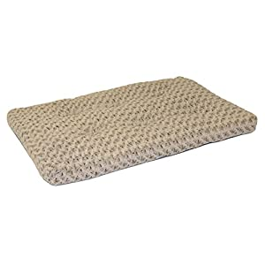 Plush Dog Bed | Ombré Swirl Dog Bed & Cat Bed | Mocha 46L x 29W x 3H - Inches for XL Dog Breeds