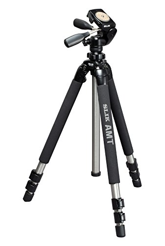 SLIK Complete Tripod Pro 700DX Amt Tripod with 3-Way Pan and tilt Head Silver (615.315)
