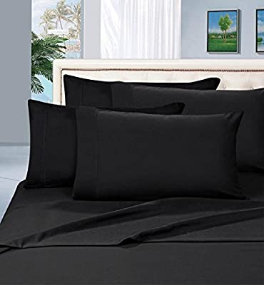 USA Bedding Limited Period Offer Solid Pattern 550 Thread Count Egyptian Cotton 4-Pieces Sheet Set Fits Mattress Deep Pockets (Queen & Full, Color)