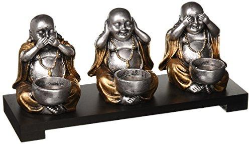 Koehlerhomedecor Sitting Buddha Candleholder