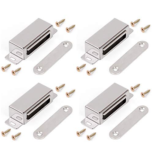 Magnetic Catch Magnetic Cabinet and Door Latch/Catch Closures for Household Stainless Steel Cabinet Magnet (Closure Holds)