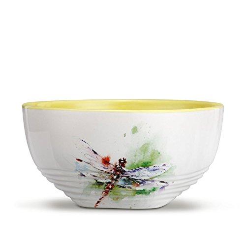 Garden Visitor Dragonfly Stoneware Soup Bowl
