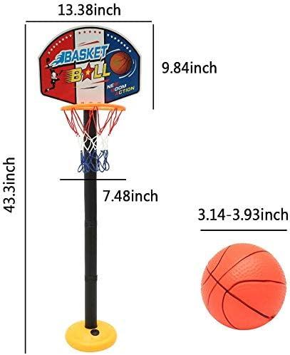 Einfache Montage und Verwendbar Homyl Stoff Basketballkorb Ball Spielzeug Zubeh/ör