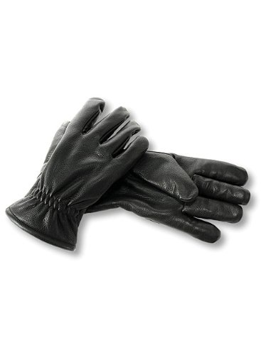 I7414L Interstate Leather Mens Premium Leather Gloves Black, Large