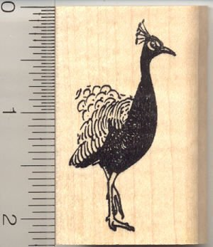 Peacock Head and Torso Rubber Stamp