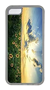 iPhone 5C Case, Customized Protective Soft TPU Clear Case for iphone 5C - Sunshine Flowers Cover