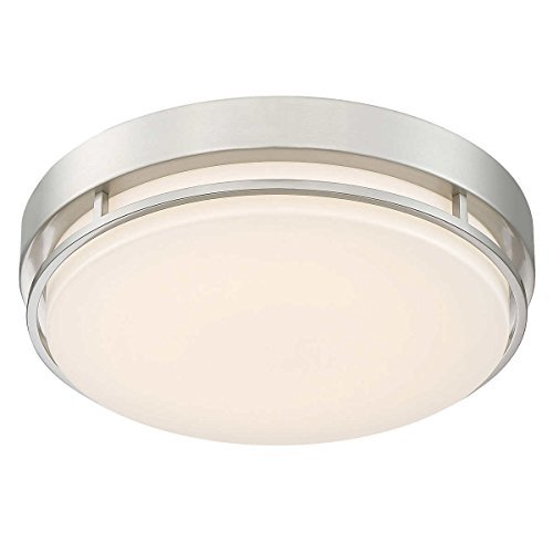 Altair LED 14'' Flushmount Dimmable Light Fixture in Brushed Nickel Finish