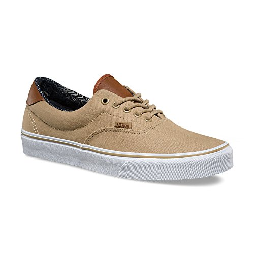 Vans Unisex Era 59  C L  Khaki Material Mix Skate Shoe 11 Men Us