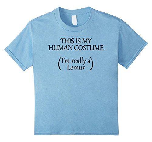 Costume Halloween Lemur Baby (Kids This is my HUMAN COSTUME I'm really a Lemur T Shirt 4 Baby)