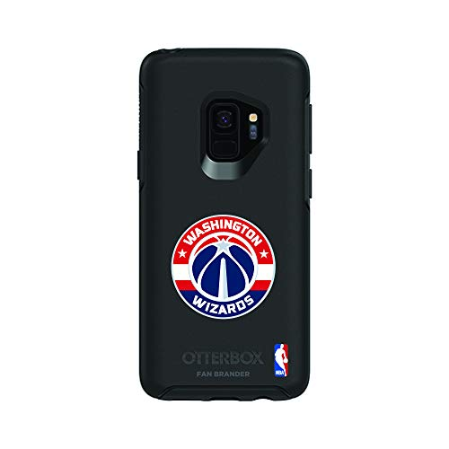 Fan Brander NBA Black Phone case, Compatible with Samsung Galaxy S9 and with OtterBox Symmetry Series (Washington Wizards)