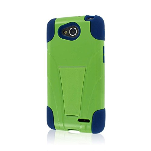 LG Optimus L90 Case, MPERO IMPACT X Series Dual Layered Tough Durable Shock Absorbing Silicone Polycarbonate Hybrid Kickstand Case for Optimus L90 [Perfect Fit & Precise Port Cut Outs] - - L90 Lg For A Case