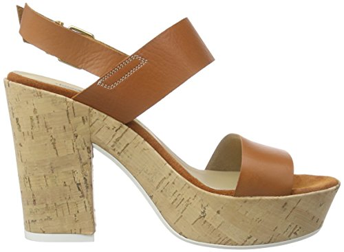 Manas versilia 121L5906VED - Sandalias de vestir de cuero para mujer Braun (Cuoio)