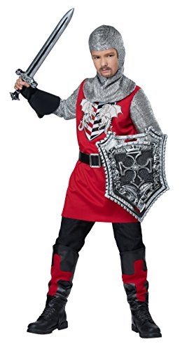 California Costumes Brave Knight Costume, Red/Black, Medium -