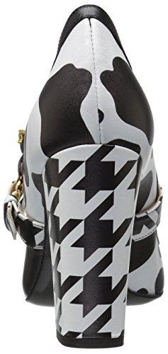 Boutique Moschino Mujer Charol Mary Jane Vestido Pump Negro / Blanco