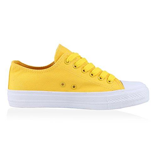 Best-botas para mujer zapatilla zapatillas zapatos de cordones estilo deportivo Gelb Giallo Nuovo