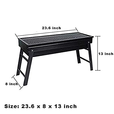 Evoio Barbecue Grill Stove Folding Charcoal BBQ Grill Cooking Tools Portable for Home Outdoor