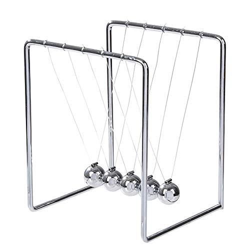 - ArtCreativity Newton's Cradle | Stainless Steel Office Desk Decoration Metal Desk Toy with Reflective Finish | Fun Educational Science Learning Aid | Best Gift for Kids and Adults
