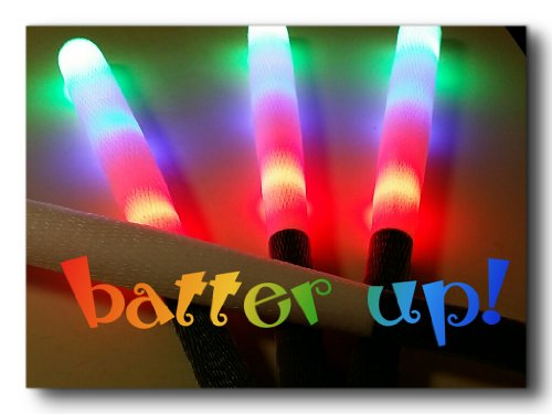 [Light Up Flashing Foam Toy Novelty Baseball Bat] (Baseball Bat Man Costume)