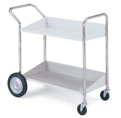 Charnstrom Two Shelf Mobile Bin Cart (B176) by Charnstrom