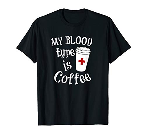Coffee Lovers Phlebotomy Tshirt for Women Phlebotomists -